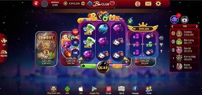 Bin Club- Game bài slot đổi thưởng mang tên gọi Hoàng gia